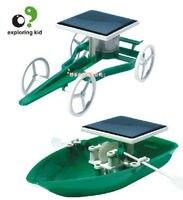 Candice guo en plastique jouet gamin explorer creat modèle expérience scientifique jeu vert drôle solaire puissance bateau de voiture cadeau d'anniversaire 1 set