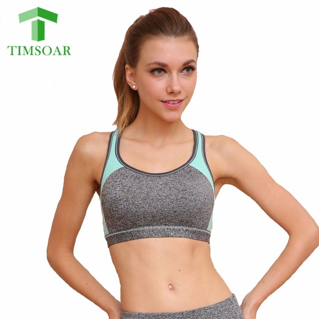 789e2762f3 TIMSOAR Women Sports Yoga Bras Stretch Workout Yoga Fitness Tank Top  Seamless Racerback Padded Sport Bra Sleeveless Top Vest M L
