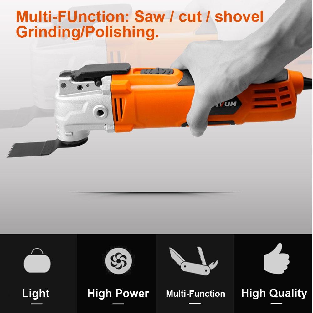 Tondeuse électrique coupe polissage meulage ouverture pelle à fente Machine multifonction travail du bois coupe outils électriques ensembles - 4