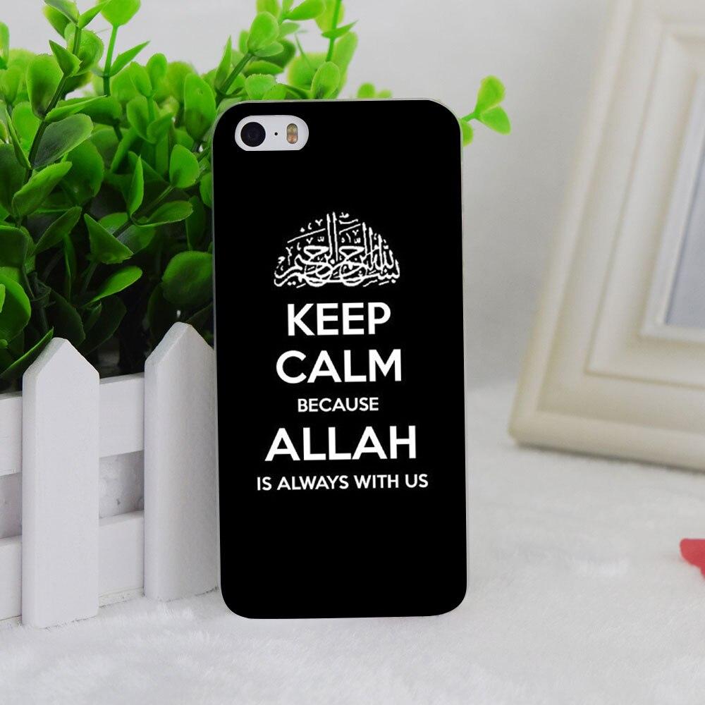 A2003 Keep Calm Allah Transparent Hard Thin Case Cover For Apple iPhone 4 4S 5 5S SE 5C 6 6S 6Plus 6s Plus