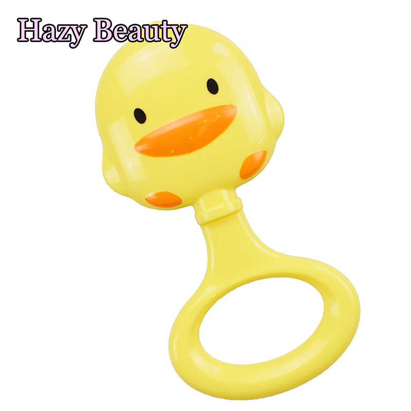 Little Duck Rattles Baby Rattle Bed Bell Ring Molar Plastic Ring Baby Educational Toys Newborn Toys 0-12 Months