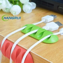 Hangrui cable winder desktop solid power cord data line hub holder cable wire organizer clip  for micro usb cable organizer