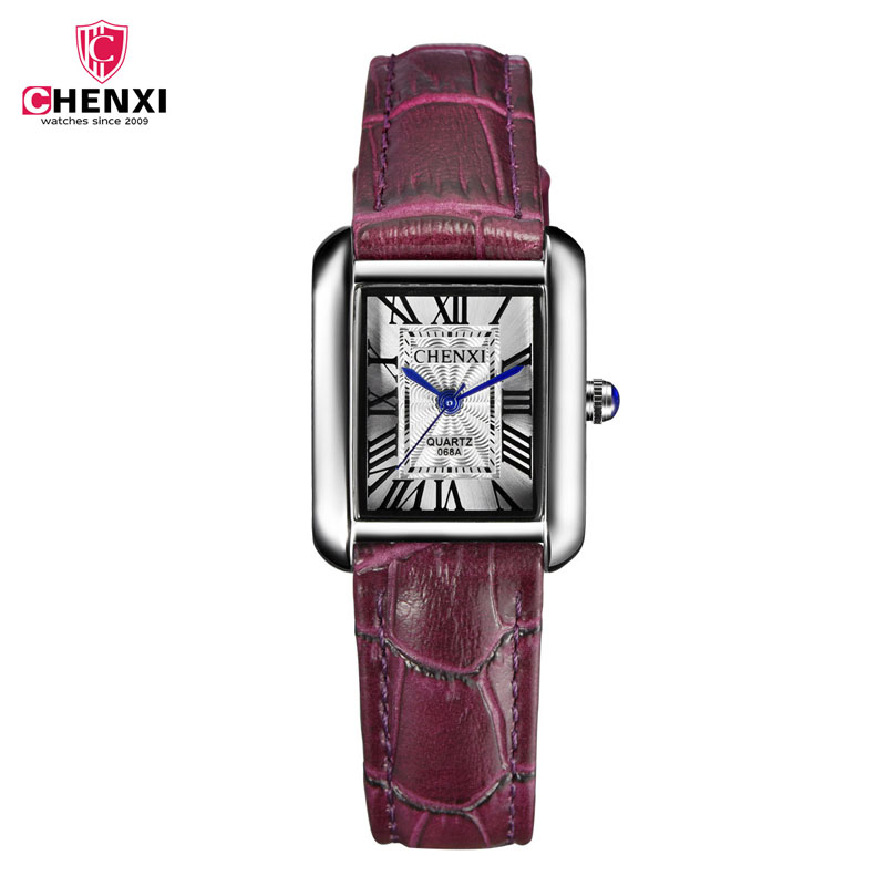 CHENXI Elegant clock women watch reloj mujer bayan saat Leather watchband Waterproof Quartz Wristwatch relogio feminino hodinky cartoon gold horse print blue leather strap sports ladies quartz watch relojes hombre 2017 bayan saat women watches hodinky b133