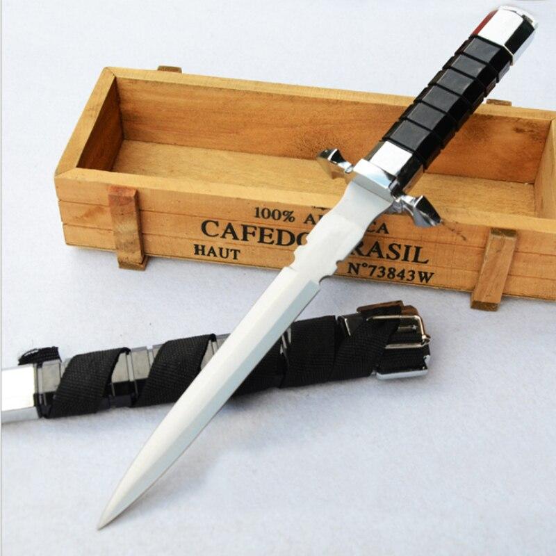 Épée de légitime défense Assassin foncé acier inoxydable épée courte médiévale 11.8