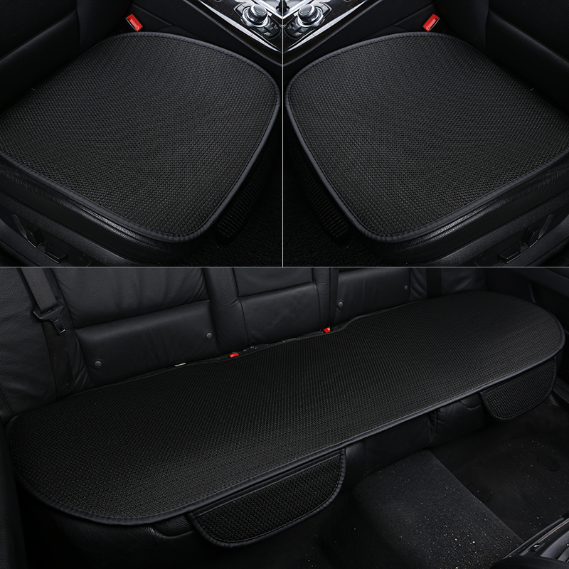 Ice Silk Car Seat Cover Universal Cushion Seasons Comfortable Breathable Car Accessories Suitable For 99% Car Model