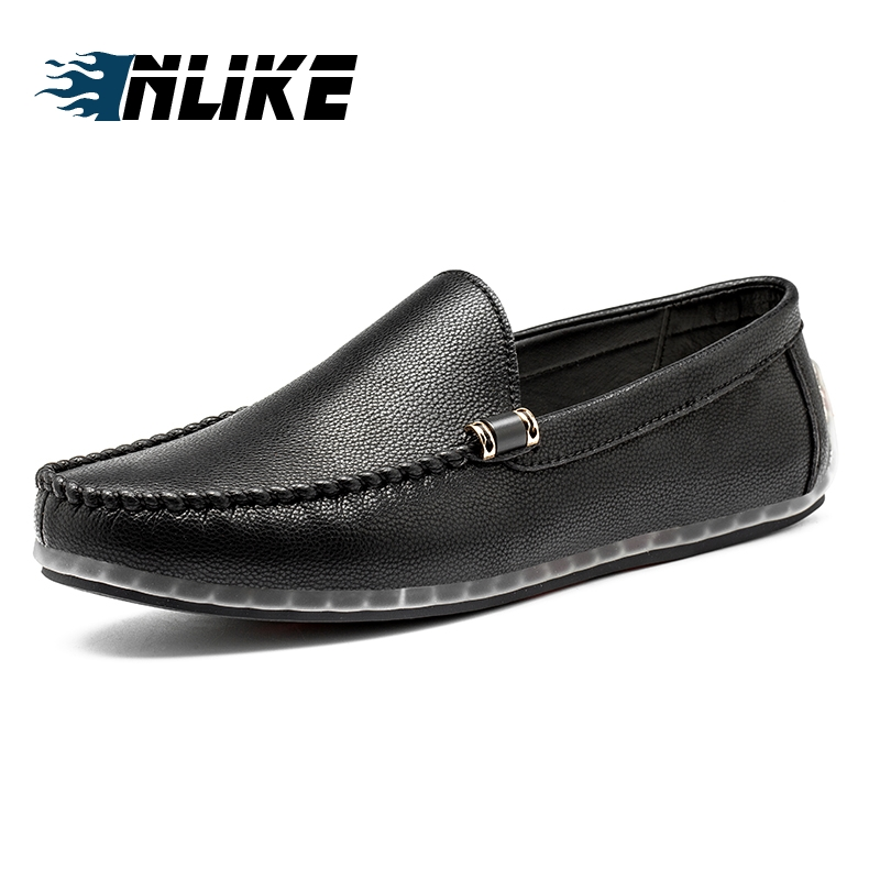 INLIKE Men Leather Male Doug Shoes Soft Comfotable Men Casual Shoes Slip On Driving Loafer ShoseINLIKE Men Leather Male Doug Shoes Soft Comfotable Men Casual Shoes Slip On Driving Loafer Shose