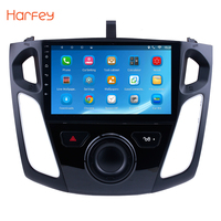 Harfey Android 8.1/7.1 9 Car GPS Stereo Radio Quad Core Multimedia Player For 2011 2012 2013 2014 2015 Ford Focus Support DVR