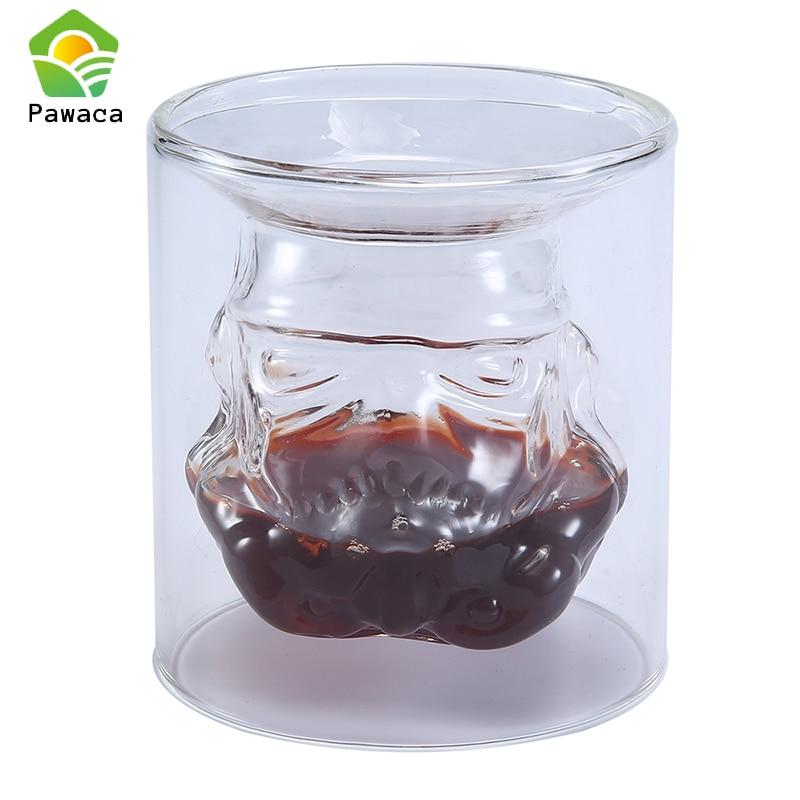 Pawaca Creative Mug Wine Whiskey Glass Mug With Double Glass 150ml Beer Mug Star Wars 3d Bar Party Office Round Glass Cups