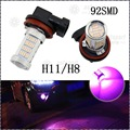 2x H11 H8 Pink Purple 92SMD 4014 Chips LED Bulbs For Car Driving Fog Lights Lamp 100W