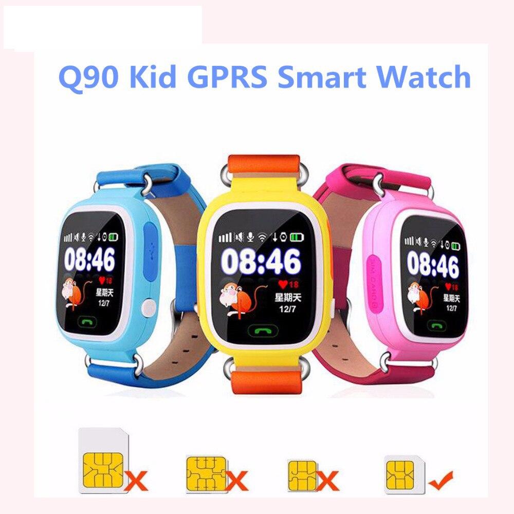 GPS Q90 Smart Enfants Montre Bébé Carte SIM Écran Tactile SOS Appel Dispositif de Localisation Tracker Kids Safe Anti-Perdu moniteur Smartband