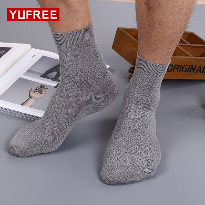 YUFREE 2017 Autumn Winter Mens Socks Business Solid Warm Male Bamboo Fiber Casual Thermal Cotton Socks HE09