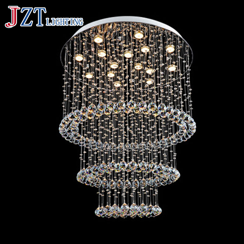 J Best Price Modern K9 crystal pendant light dining room bedroom lamp LED stair art lamps crystal living room droplight light modern fashion luxurious rectangle k9 crystal led e14 e12 6 heads pendant light for living room dining room bar deco 2239