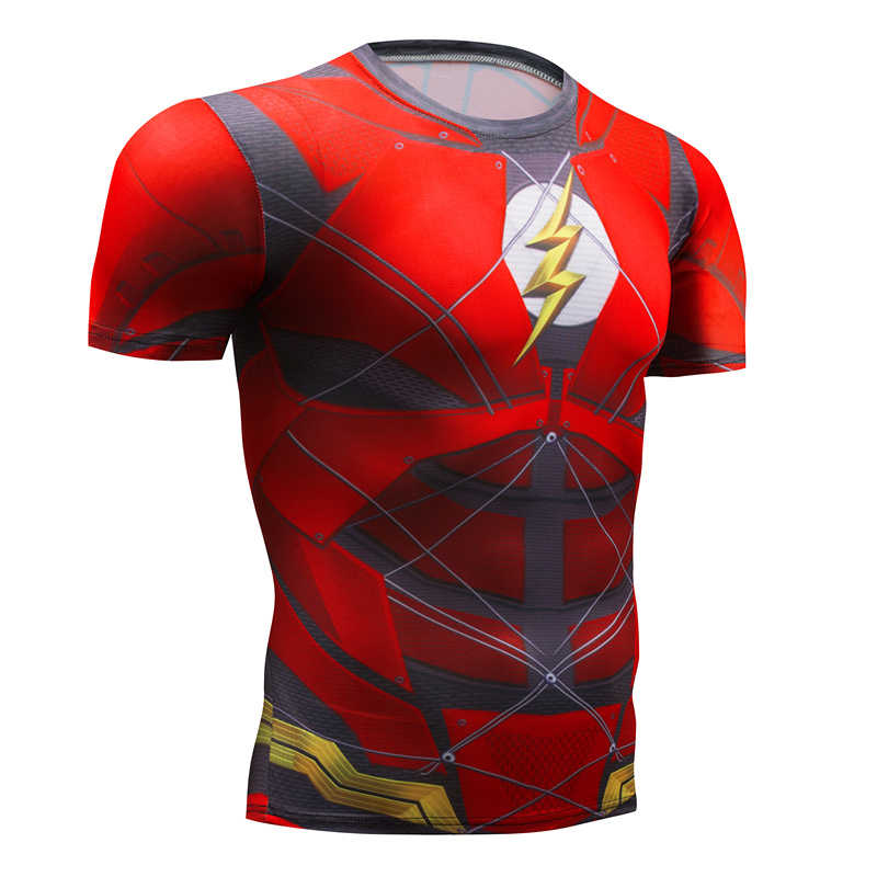 7f46c1ab ... Fitness T-shirt 3D Spider-Man Men's Short Sleeve Top, Superhero T- ...