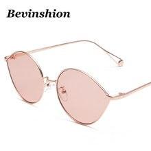 994b3b1cc0 Gafas Vintage gotitas forma hombres mujeres gafas de marco de Metal Marco  de oro rosa rojo azul lente gafas de sol mujer Nuevo 2.