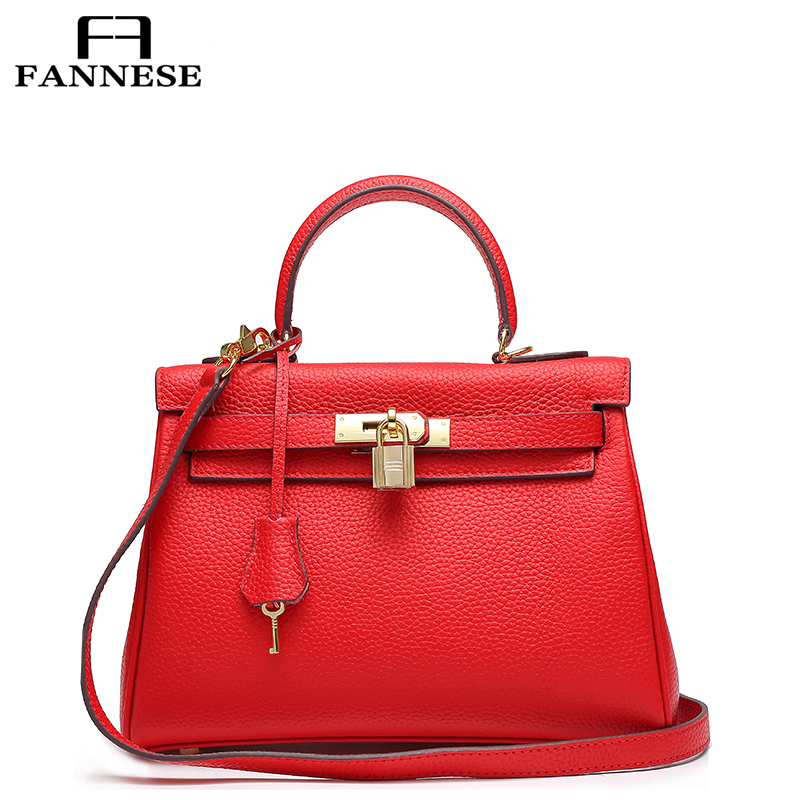 FANNESE Authentic Women Crocodile Bag 100% Genuine Cow Leather the women's real leather bag women's handbags Shoulder Bags yuanyu 2018 hot new free shipping real crocodile women handbag leather bag authentic crocodile belly without stitching women bag