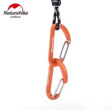 Naturehike 8pcs D Shape Camping Carabiner 4cm Aluminum Hook
