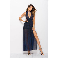 2018 New Summer Sexy Halter Sleeveless Ankle Length Fashion Spaghetti Strap D V Neck Women Beach Boho Dress