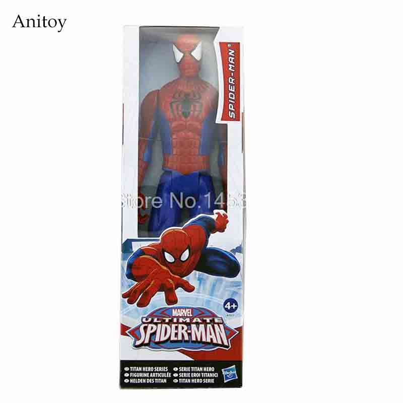 Marvel Amazing Spiderman Ultimate Spider-man PVC Action Figure Collectible Model Toy 30cm 12  funko pop marvel the amazing spider man 45 spiderman 03 bobble head vinyl action figure collectible model toy retail box w42
