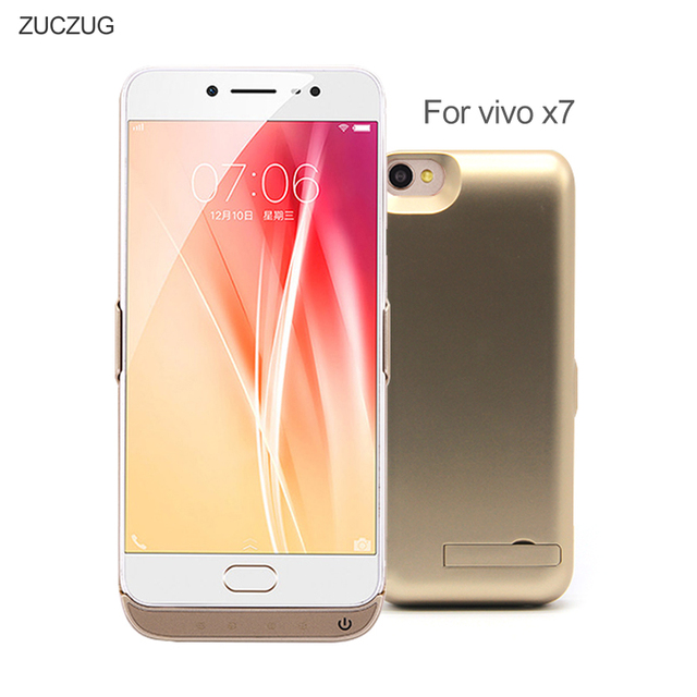 ZUCZUG 6500 mAh Portable Power Bank Case For VIVO X7 External Battery Backup Charger PowerBank Slim Battery Charging Cases Cover