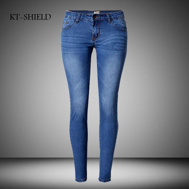 New Fashion Brand Women Skinny Pencil Jeans Denim Elastic Pants Washing Color Good Quality Woman Casual Jean Pants Plus Size 44