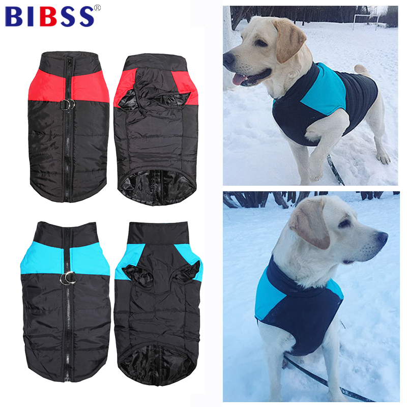 Warm Pet  Winter Dog Clothes Dog Vest Waterproof Puppy Jacket Coat For Medium Large Dogs Chihuahua S-5XL