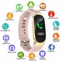 Sport étanche montre intelligente femmes Bracelet intelligent bande Bluetooth moniteur de fréquence cardiaque Fitness Tracker Smartwatch