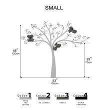 Koala Family on White Tree Branch Vinyls Wall Stickers Decals Art Removable Mural Children Room Sticker Decor