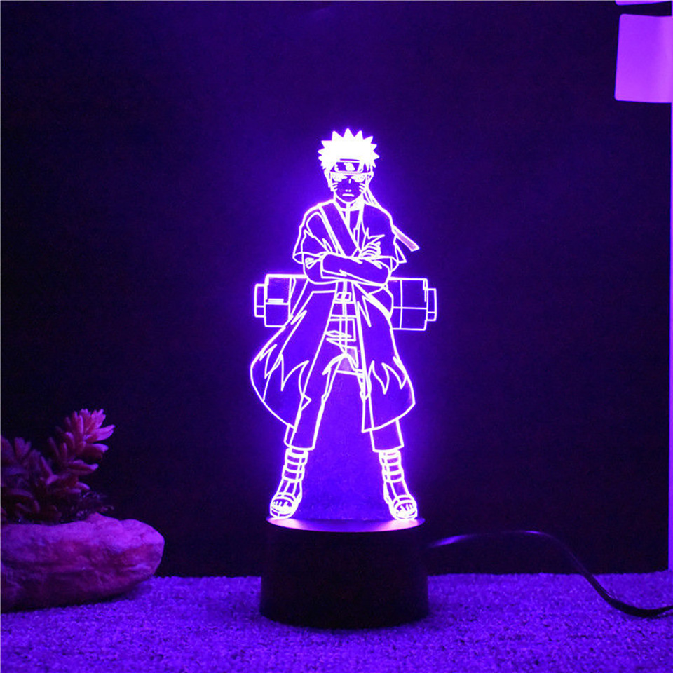 7 Colors Changing 3d Visual Naruto Modelling Led Anime Night Lights Kids Touch Button Usb Lampara Table Lamp Home Decor Lighting 7 color change 3d led visual naruto modelling anime figure night light kids touch button usb table lamp home decor lighting gift