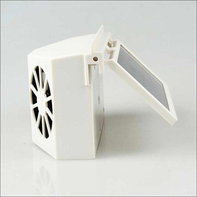 Автомобиль Солнечный Вентилятор Air Vent Холодный Вентилятор Cooler Система Вентиляции Радиатора Высокое качество Портативный Новое прибытие авто оконные вентиляторы