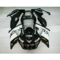 Tanie Niestandardowy plastik ABS motocykl zestaw czyszczenie i konserwacja form wtryskowych dla YAMAHA YZF R1 1998 1999 98 99 czarny west owiewki części