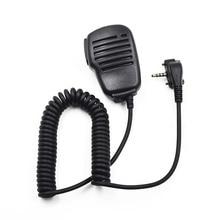 ไมโครโฟนลำโพงแบบใช้มือถือ MIC PTT สำหรับ Vertex มาตรฐานวิทยุแบบพกพา VX231 VX230 VX 231 VX160 VX168 VX180 VX417 Walkie Talkie