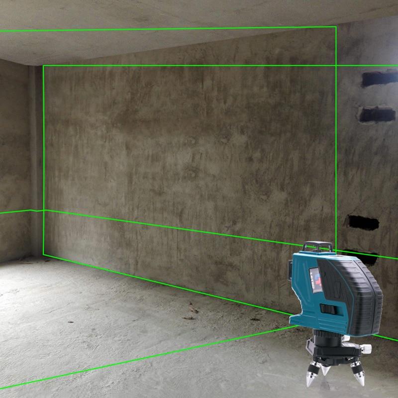 LETER  12Lines 3D  Laser Level Self-Leveling 360 Degree  Laser Beam Line High Precision