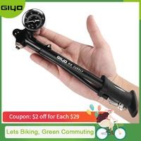 GIYO Pump 300psi High pressure Bike Air Shock Pump For Fork & Rear Suspension Cycling Bicycle Pump Mountain Bike Pump With Gauge