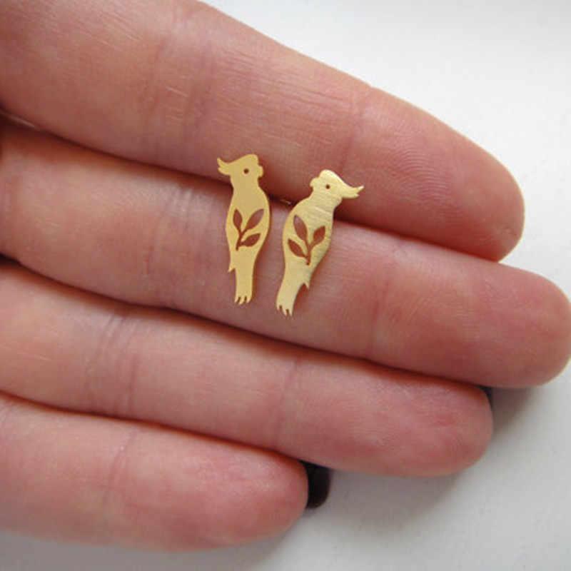 แฟชั่นญี่ปุ่นน่ารัก Golden ขนาดเล็กต่างหู Cool เด็กสัตว์ต่างหูคริสต์มาสเครื่องประดับ Brincos