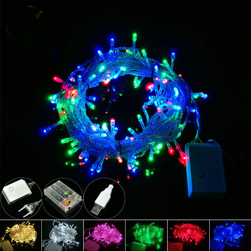 font b Led b font font b String b font Christmas Lights 10m 100leds Battery