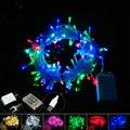 Caja de La Batería Led Cadena de Luces de Navidad 10 m 100 led luces de hadas USB Hogar Holiday Party Boda Al Aire Libre decoraciones De Navidad lámpara