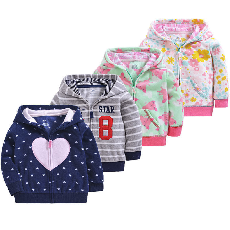 Baby Coat Fleece Spring Children's Clothes Fleece Zipper Jacket Coat Hoodie Toddler Girl Coat Toddler Boy Jacket Kids Outfits
