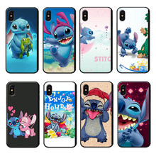 Stich Phone Case for iPhone 6 6s 7 8 Plus X XR XS Max Soft Shockproof Phone Cover Blue Anime Cute LuxuryTPU Phone Cases(China)