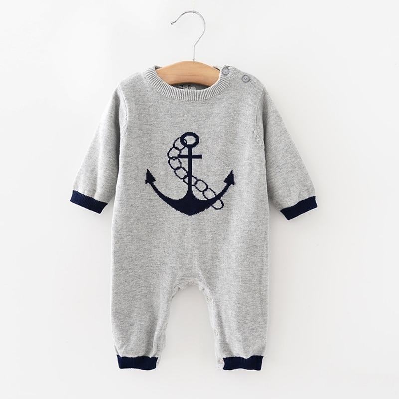 VORO BEVE 2017 Baby Kids Girls Knit clothing set Long Sleeve Romper Jumpsuit Outfit Infant Kids