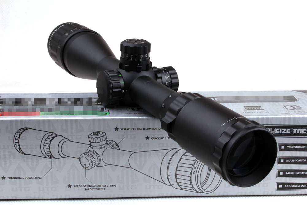 Air Telescope rifle Mil-Dot 3-9X40 AO Tactical Red Green Blue llluminate Rifle scope Optical Sight Air Scopes w/ Sunshade 3 10x42 red laser m9b tactical rifle scope red green mil dot reticle with side mounted red laser guaranteed 100%