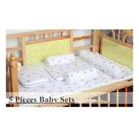 5 Pieces 0 3 Years Old Baby Latex Mattress Sets With 100 Natural Cotton Cover 120x90cm