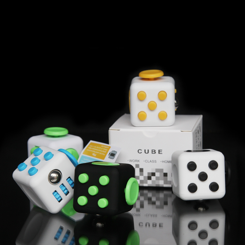 squishy 11 Colors Fun Fidget Cube Toy Dice Anxiety Attention Anti stress Puzzle Magic Relief Adults Funny Fidget Toys antistress edc novelty stress relief toy fidget magic cube