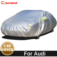 Cawanerl Thicken Cotton Car Cover Anti UV Sun Shade Snow Rain Hail Dust Protection Waterproof Cover For Audi 100 200 80 90 A3