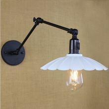 Винтажный светодиодный настенный светильник 25 см в стиле лофт
