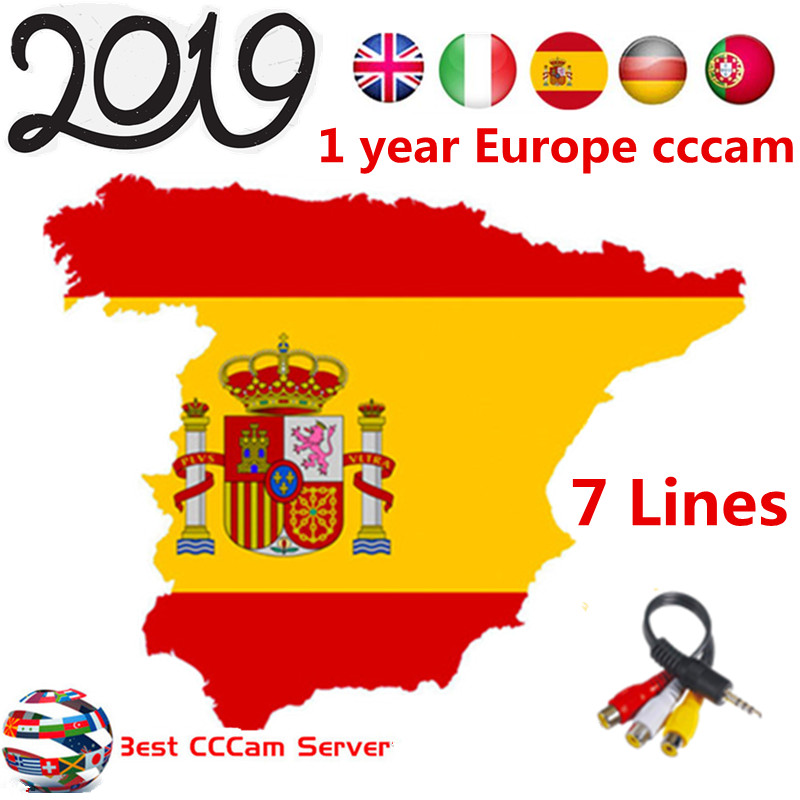 HD cccam server for 1 year Europe Free Satellite DVB S2 Cccam Account Share  Sever Italy/Spain/French/Germany 1 year TV 7 lines