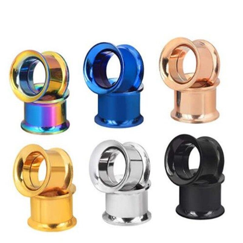 12pcs/lot Ear Plugs Tunnels Stainless Steel Piercing Ear Plugs Women Earring Gauges Ears Expanders Rings Body Jewelry Wholesale