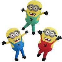 Traje de Halloween para las mujeres hombres minions inflables despicable adultos disfraz 3 colores minion traje inflable
