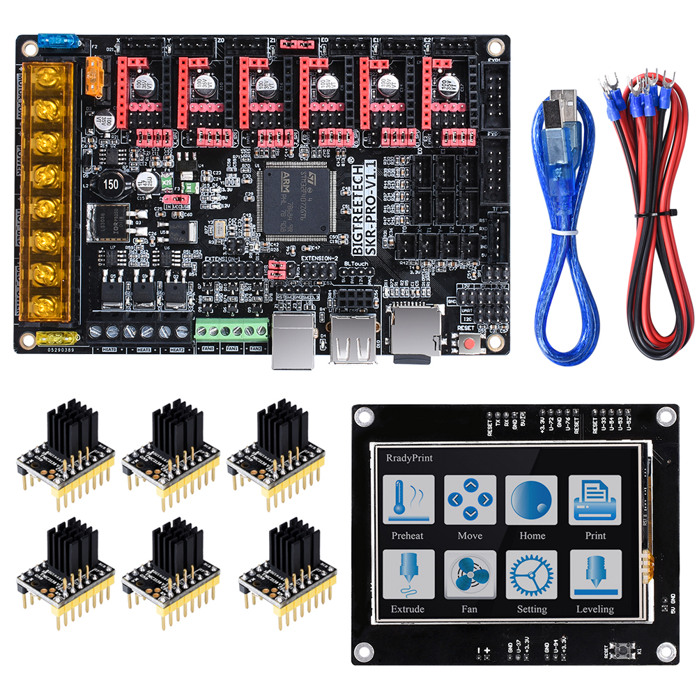 BIGTREETECH SKR PRO V1.1 carte de commande 32 bits VS SKR V1.3 carte + TMC2208 UART TMC2130 pièces d'imprimante 3D + TFT35 écran MKS rampes 1.4