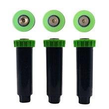 Aspersores Pop up ajustables con hilo femenino de 1/2 pulgadas, aspersor de riego de césped retráctil automático de 90 360 grados, 5 uds
