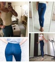 1894 Youaxon Women`s Brand New High Street Blue High Waist Skinny Denim Pants Jeans For Women Jean Free Shipping